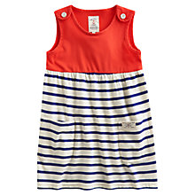 Buy Little Joule Girls' Katy Half Stripe Jersey Dress, Pink Online at johnlewis.com