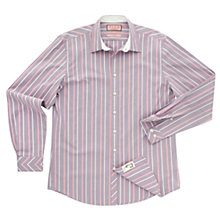 Buy Thomas Pink Westmorald Stripe Long Sleeve Shirt, Purple/White Online at johnlewis.com