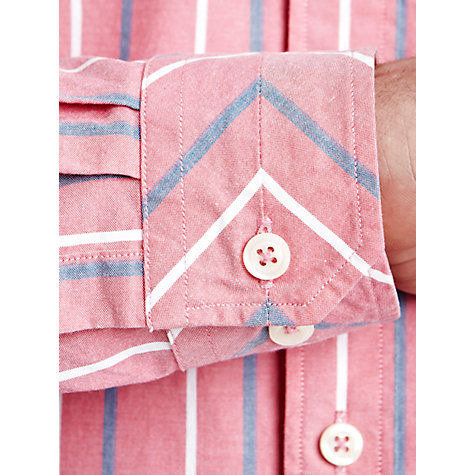 Buy Thomas Pink Westmorald Stripe Long Sleeve Shirt, Pink/White Online at johnlewis.com