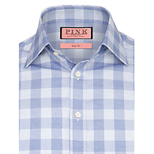 Buy Thomas Pink Macaulay Check Long Sleeve Shirt, Blue/White Online at johnlewis.com