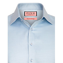 Buy Thomas Pink Prestige Joseph Texture Long Sleeve Shirt, Blue Online at johnlewis.com