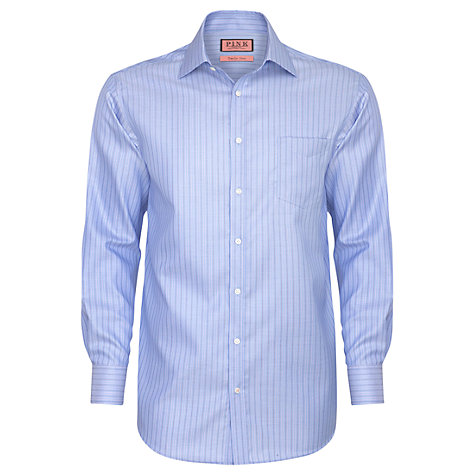 Buy Thomas Pink Stuart Stripe Long Sleeve Shirt, Blue/Purple Online at johnlewis.com