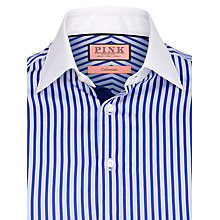 Buy Thomas Pink Augistus Stripe Long Sleeve Shirt, Blue Online at johnlewis.com