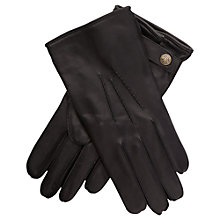 Buy Thomas Pink Dunstable Leather Gloves, Black Online at johnlewis.com