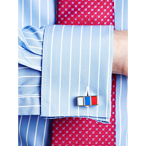 Buy Thomas Pink Pierrepoint Stripe Long Sleeve Shirt, Blue/White Online at johnlewis.com