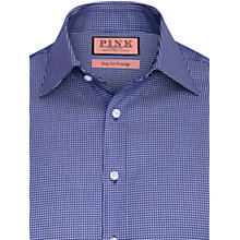 Buy Thomas Pink Prestige Johnson Texture Long Sleeve Shirt, Navy/White Online at johnlewis.com