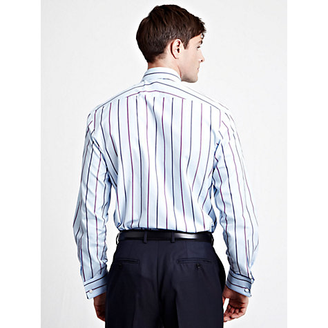 Buy Thomas Pink Leslie Stripe Long Sleeve Shirt, Blue Online at johnlewis.com