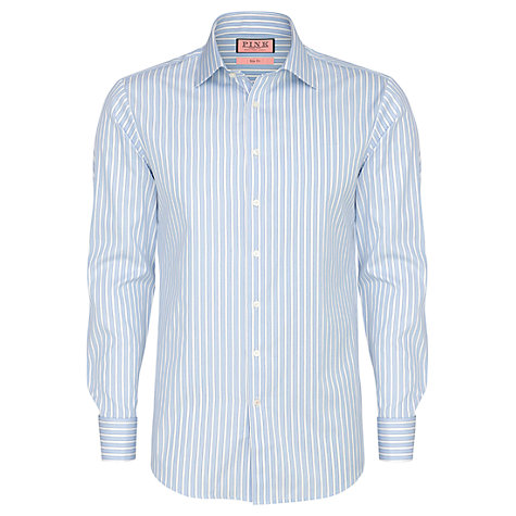 Buy Thomas Pink Collingwood Stripe Long Sleeve Shirt, Blue/White Online at johnlewis.com