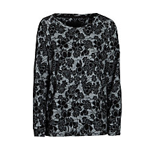 Buy Minimum Stretch Lace Sweatshirt, Black Online at johnlewis.com