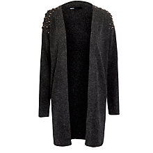 Buy Minimum Shoulder Stud Detail Cardigan, Dark Grey Online at johnlewis.com