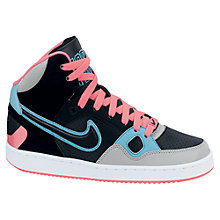 Buy Nike Son Of Force Mid Trainers, Black/Pink Online at johnlewis.com