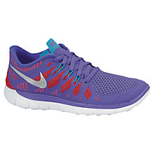 Buy Nike Free 5 Running Trainers, Purple Online at johnlewis.com