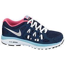 Buy Nike Dual Fusion Run 2 Trainers, Blue/Pink Online at johnlewis.com