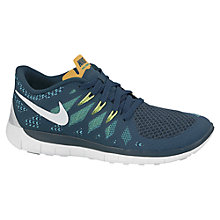 Buy Nike Free 5 Running Trainers, Green Online at johnlewis.com