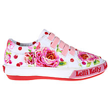 Buy Lelly Kelly Fantasy Freya Trainers, White/Pink Online at johnlewis.com