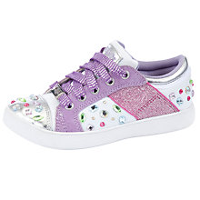 Buy Lelli Kelly California Gem Shoes, White/Lilac Online at johnlewis.com