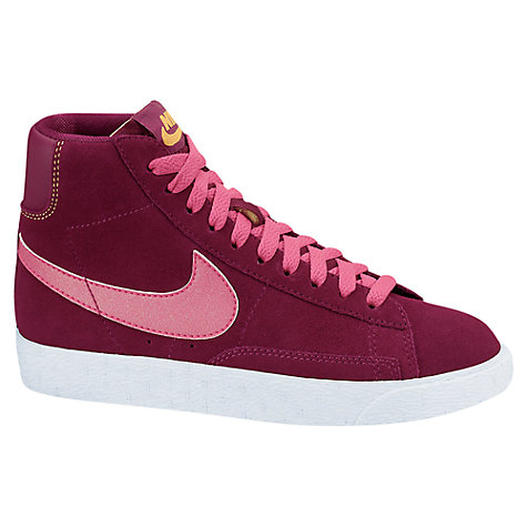 Buy Nike Blazer Mid Vintage Trainers, Pink Online at johnlewis.com