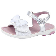 Buy Lelli Kelly Bow Sandals, White/Silver Online at johnlewis.com