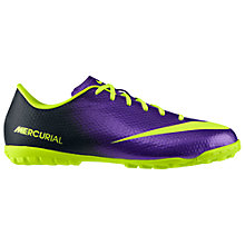 Buy Nike Junior Mercurial Victory 4 Football Boots, Purple/Green Online at johnlewis.com