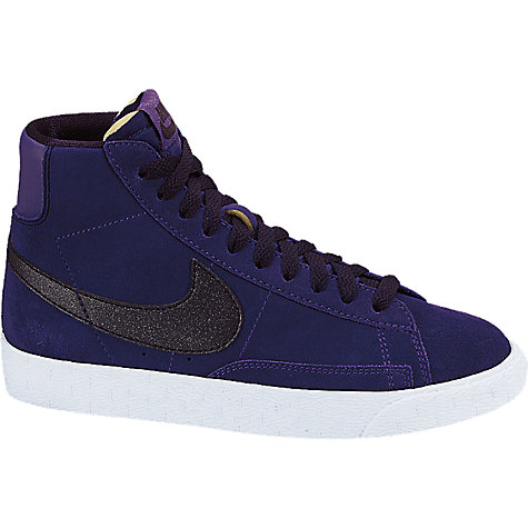 Buy Nike Blazer Mid Vintage Trainers, Purple/Multi Online at johnlewis.com