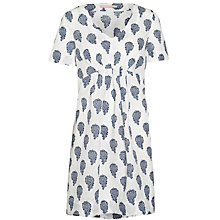 Buy John Lewis Paisley Print Linen Dress, Navy/White Online at johnlewis.com