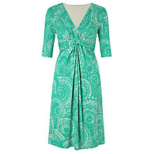 Buy John Lewis Capsule Collection Printed Jersey Knot Dress, Green Online at johnlewis.com