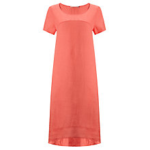 Buy John Lewis Seamed Linen Dress, Porcelain Rose Online at johnlewis.com