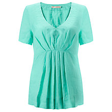 Buy John Lewis Wide Pleat Linen Top Online at johnlewis.com
