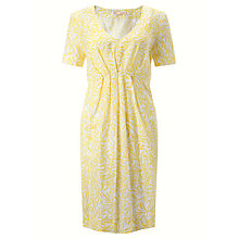 Buy John Lewis Palm Print Linen Dress, Yellow/White Online at johnlewis.com