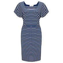 Buy Collection WEEKEND by John Lewis Square Neck Stripe Dress, Navy / Ivory Online at johnlewis.com