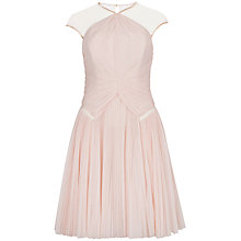 Buy Ted Baker Trixxy Pleat Dress, Nude Pink Online at johnlewis.com