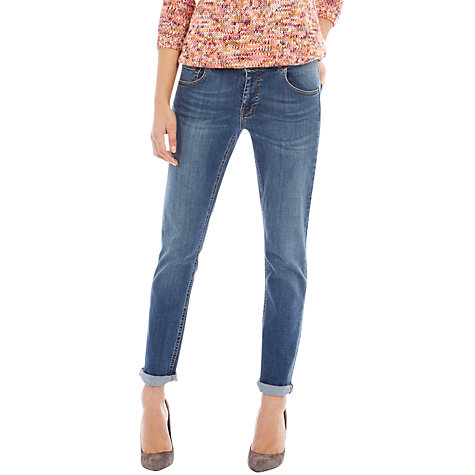 Buy Warehouse Roll Up Straight Leg Jeans, Indigo Denim Online at johnlewis.com