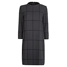 Buy Mango Check Shift Dress, Grey Online at johnlewis.com