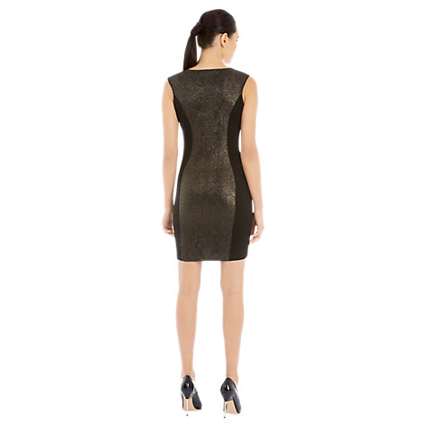 Buy Warehouse Baroque Panel Dress, Black Online at johnlewis.com