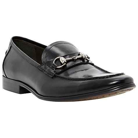 Buy Dune Adventure Snaffle Front Patent Loafers, Black Online at johnlewis.com