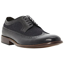 Buy Dune Brosman Leather and Canvas Brogues, Grey Online at johnlewis.com