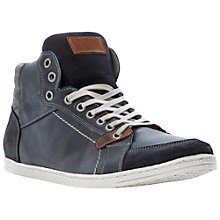 Buy Dune Skyfall Hi-Top Trainers, Navy Online at johnlewis.com