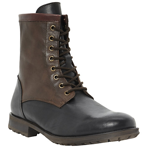 Buy Dune Crumble Contrast Leather Boots, Brown/Black Online at johnlewis.com
