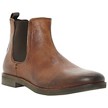 Buy Dune Canteen Leather Chelsea Boots, Tan Online at johnlewis.com