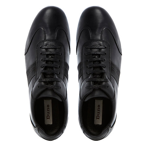Buy Dune Tomboy Leather Wing Trainers, Black Online at johnlewis.com