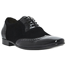 Buy Dune Articulate Patent Leather and Suede Wingtip Oxford Shoes Online at johnlewis.com