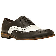 Buy Dune Braker Mono Oxford Brogue Shoes, Black/White Online at johnlewis.com