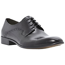 Buy Dune Avail Punch Detail Lace-Up Shoes, Black Online at johnlewis.com