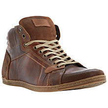 Buy Dune Skyfall Hi-Top Leather Trainers, Tan Online at johnlewis.com