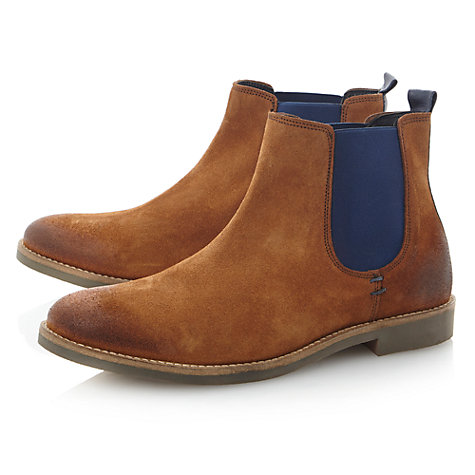 Buy Dune Canteen Suede Chelsea Boots, Tan Online at johnlewis.com