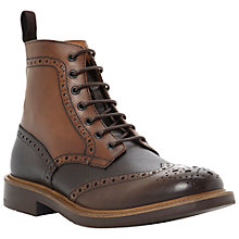 Buy Dune Canterbury Brogue Boots, Multi/Brown Online at johnlewis.com