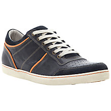 Buy Dune Titania Leather Trainers, Navy Online at johnlewis.com