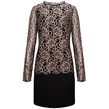 Buy Ted Baker Elke Lace Detailed Dress, Light Brown Online at johnlewis.com