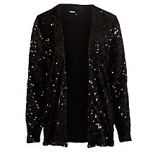 Buy Minimum Sequin Jacket, Black Online at johnlewis.com