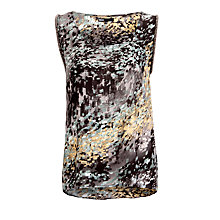 Buy Minimum Sleeveless Print Top, Granite Green Online at johnlewis.com
